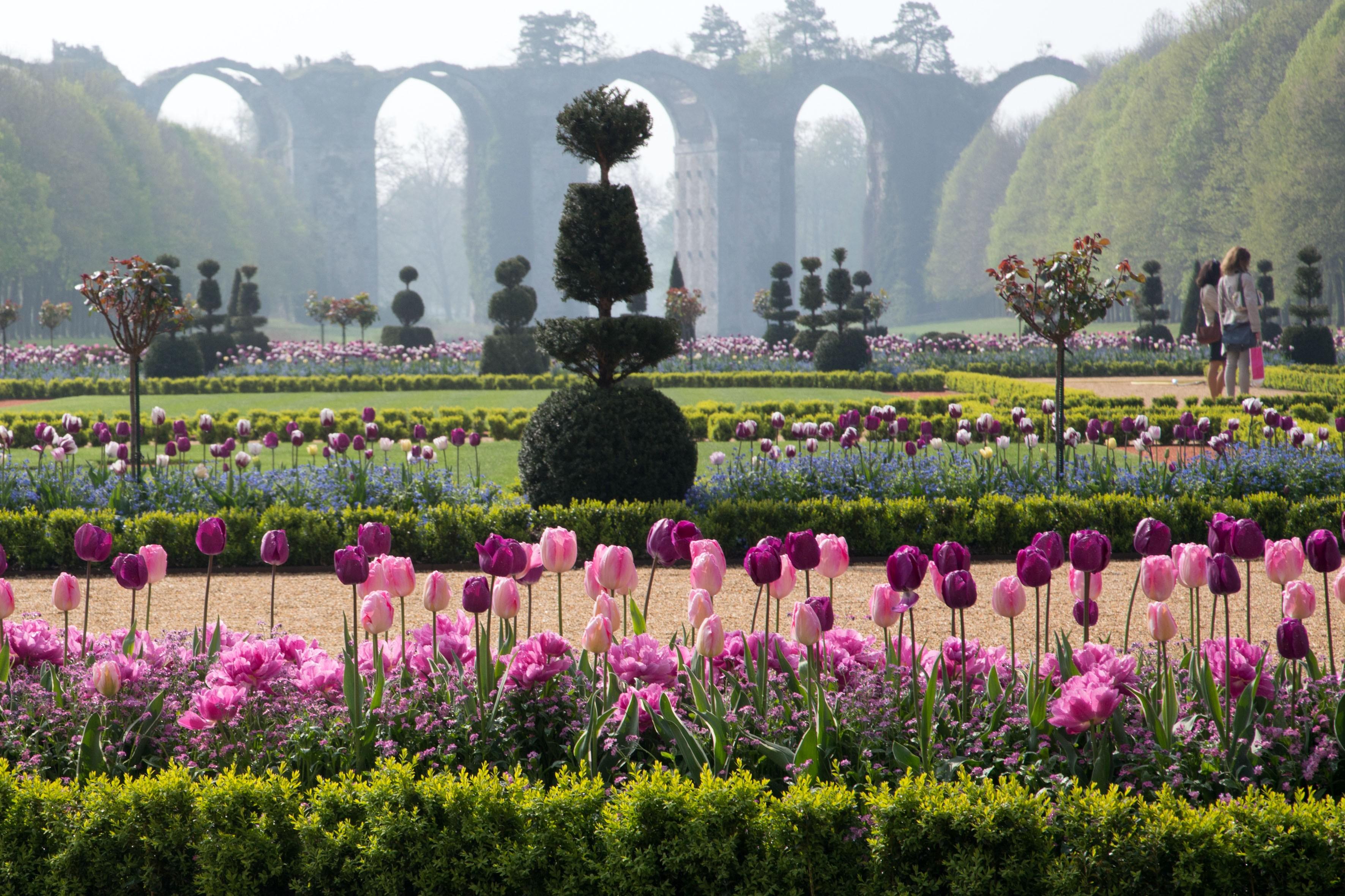 Jardin la fran aise et parc du ch teau de maintenon for Jardin 0 la francaise